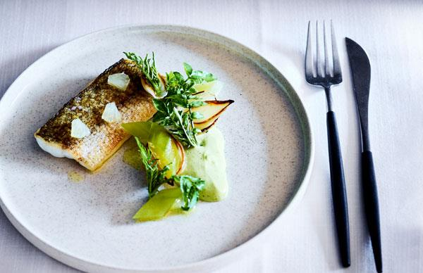 Cutler & Co's King George whiting with brown butter, pickled onion and dill