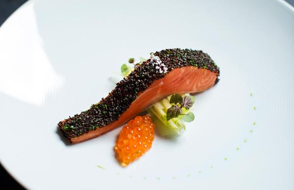 The signature confit trout at Testuya's