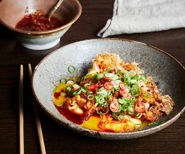 "**[Kylie Kwong's fried eggs with XO sauce](https://www.gourmettraveller.com.au/recipes/chefs-recipes/fried-eggs-xo-sauce-17750|target=""_blank"")**"