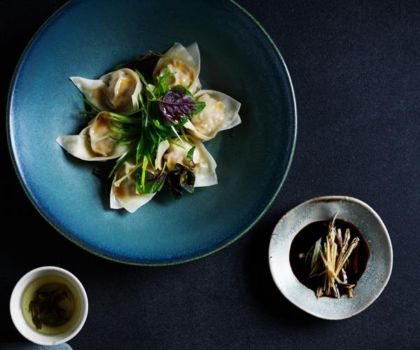 "**[Pork dumplings with black vinegar and ginger](https://www.gourmettraveller.com.au/recipes/browse-all/pork-ginger-dumplings-17767|target=""_blank"")**"