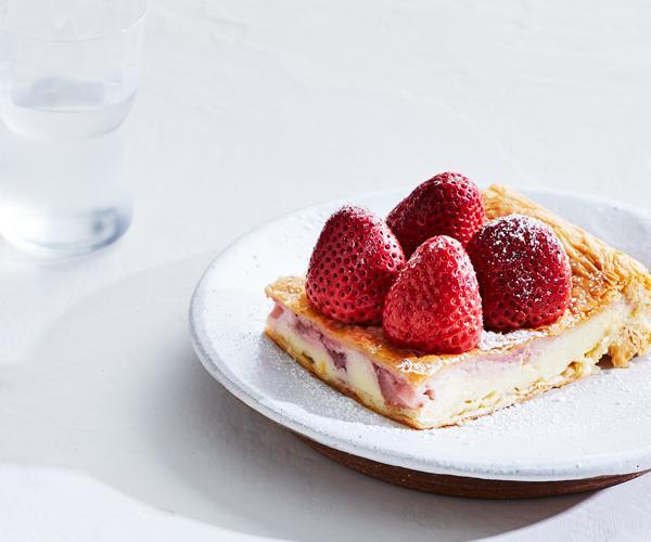 "**[Jonathan Barthelmess's strawberry galaktoboureko](https://www.gourmettraveller.com.au/recipes/chefs-recipes/strawberry-galaktoboureko-16976|target=""_blank""|rel=""nofollow"")**"