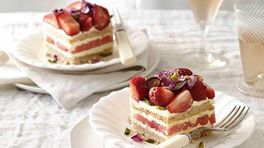 Black Star Pastry's strawberry and watermelon cake