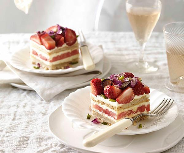 "You've been meaning to make: **a show-stopping cake.** <br/> So make: **[Black Star Pastry's strawberry and watermelon cake.](https://www.gourmettraveller.com.au/recipes/chefs-recipes/strawberry-and-watermelon-cake-8958|target=""_blank""