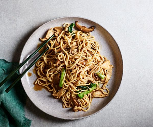 "**[Braised Yi-fu noodles](https://www.gourmettraveller.com.au/recipes/fast-recipes/yi-fu-noodles-17803|target=""_blank"")**"