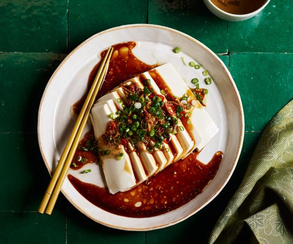 "**[Tony Tan's spicy silken tofu](https://www.gourmettraveller.com.au/recipes/fast-recipes/spicy-silken-tofu-17807|target=""_blank"")**"