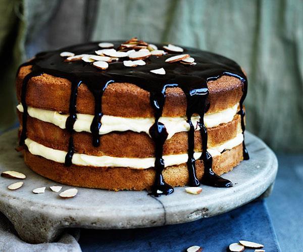 Orange custard cream layer cake