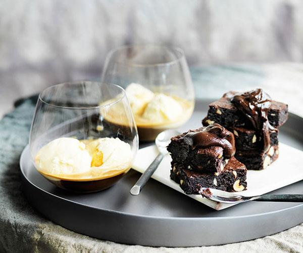 "**[Chocolate and coffee fudge cakes with Bourbon chocolate sauce](https://www.gourmettraveller.com.au/recipes/browse-all/chocolate-and-coffee-fudge-cakes-with-bourbon-chocolate-sauce-11975|target=""_blank"")**"