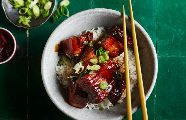 Braised pork ribs
