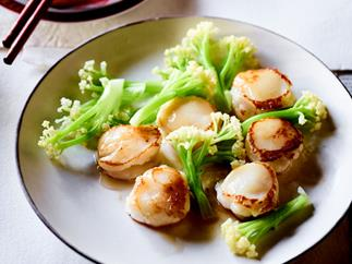 Lau Family Kitchen's scallops stuffed with prawn mousse