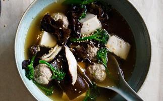Pork and tofu soup