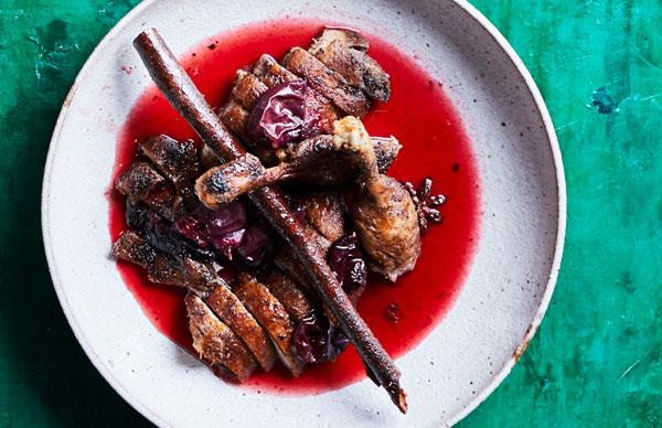 Deep-fried duck with Davidson's plum sauce