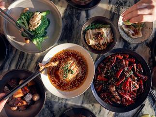 A banquet at Transit, Beijing.