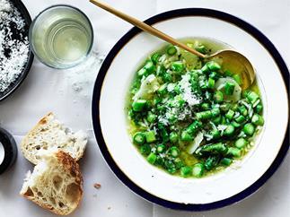 Stefano de Pieri's minestra di riso e asparagi