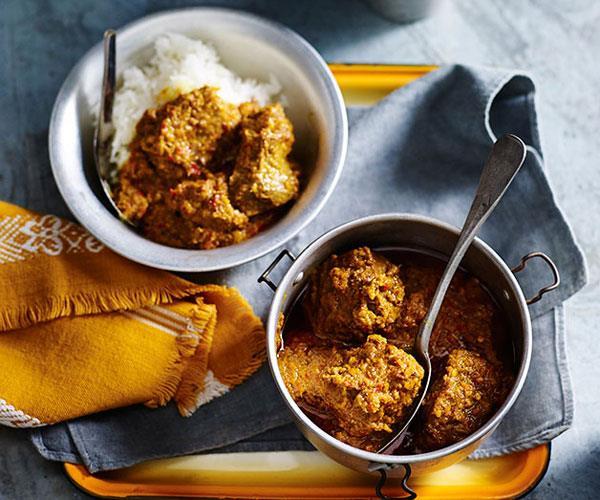 "**[Beef rendang](https://www.gourmettraveller.com.au/recipes/browse-all/beef-rendang-14212|target=""_blank""|rel=""nofollow"")**"