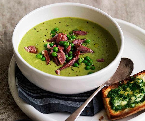 """**[Pea and ham soup](https://www.gourmettraveller.com.au/recipes/browse-all/pea-and-ham-soup-8727