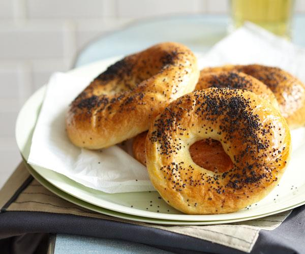 """**[How to make bagels](https://www.gourmettraveller.com.au/recipes/browse-all/bagel-recipe-14180 target=""""_blank"""")**"""