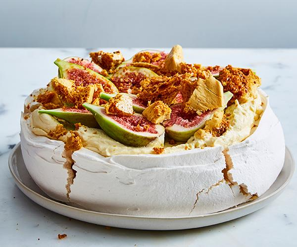 Flour and Stone's fig and honeycomb pavlova