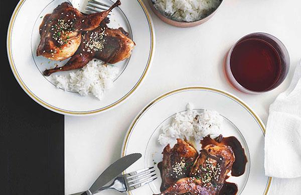Teriyaki quail
