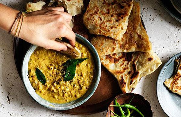 Roti with chana dhal