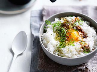 Japanese egg and rice bowls (tamago gohan)