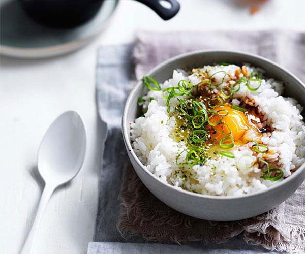 "[**Egg and rice bowls**](https://www.gourmettraveller.com.au/recipes/browse-all/egg-and-rice-bowls-12802|target=""_blank"")"
