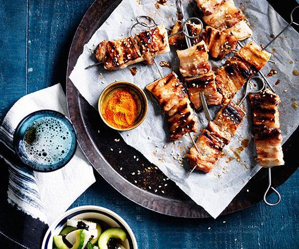 "[**Yakiton with shichimi togarashi**](https://www.gourmettraveller.com.au/recipes/fast-recipes/yakiton-with-shichimi-togarashi-13657|target=""_blank"")"