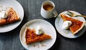 Caramel pumpkin pie with spelt shortcrust