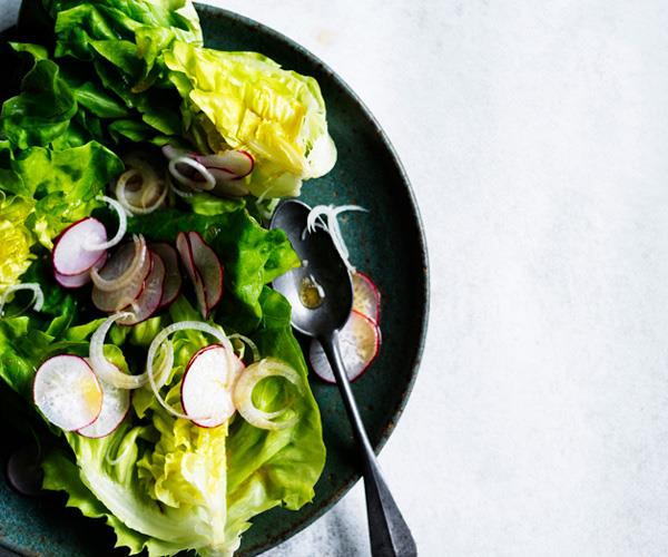 Radish and butter lettuce salad