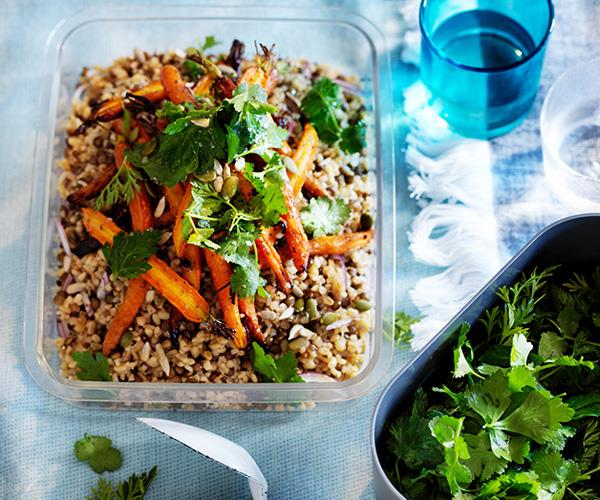 "**[Carrot and burghul salad](https://www.gourmettraveller.com.au/recipes/browse-all/carrot-and-burghul-salad-12912|target=""_blank"")**"