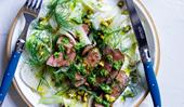 Lamb with fennel, salsa verde and preserved lemon