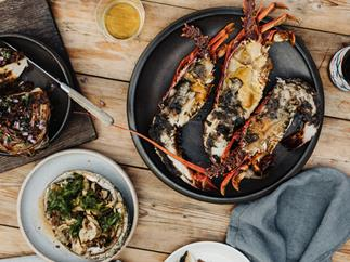 Lobster and abalone with wakame butter
