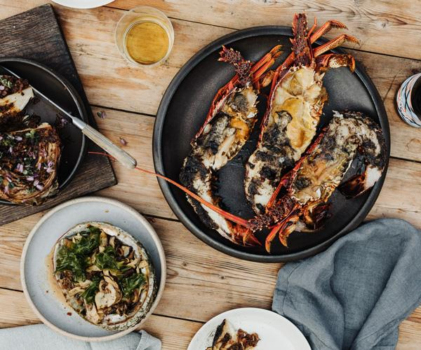 "**[Analiese Gregory's lobster and abalone with wakame butter and XO sauce](https://www.gourmettraveller.com.au/recipes/chefs-recipes/lobster-abalone-butter-17490|target=""_blank"")**"