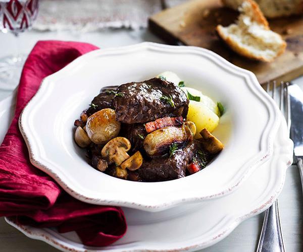 "**[Boeuf Bourguignon](https://www.gourmettraveller.com.au/recipes/browse-all/boeuf-bourguignon-8780|target=""_blank"")**"