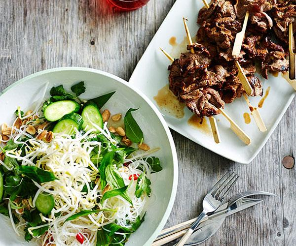 "**[Vietnamese-style beef and vermicelli salad](https://www.gourmettraveller.com.au/recipes/fast-recipes/vietnamese-style-beef-and-vermicelli-salad-13542|target=""_blank"")**"