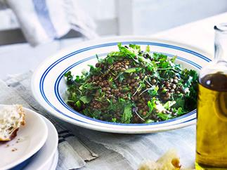 George Calombaris: Lentil and coriander salad