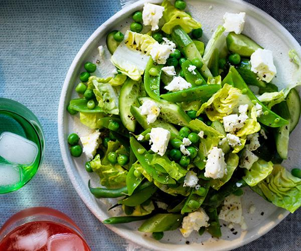 "**[Chopped spring green salad](http://www.gourmettraveller.com.au/recipes/browse-all/chopped-spring-green-salad-12913|target=""_blank"")**"