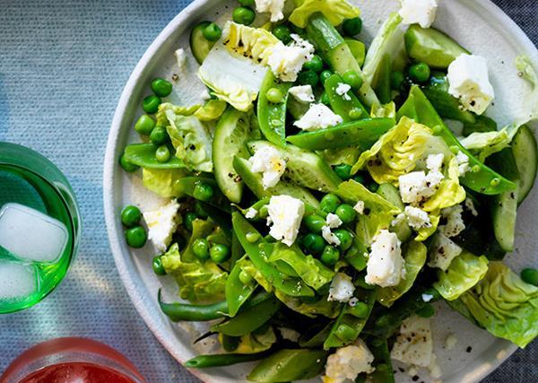 Chopped spring green salad