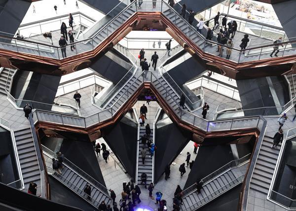 Inside the Vessel at Hudson Yards