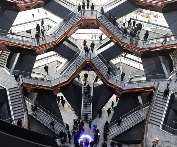 Inside the Vessel at Hudson Yards