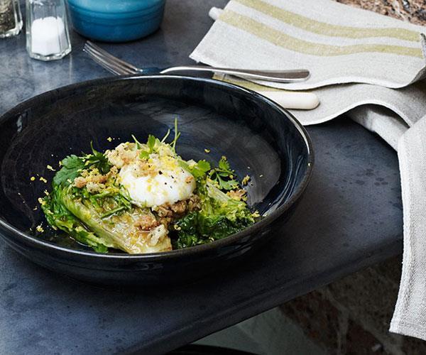 Braised lettuce polonaise