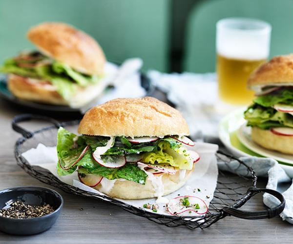 "**[Saltie's Romaine dinghy](https://www.gourmettraveller.com.au/recipes/chefs-recipes/romaine-dinghy-9208|target=""_blank"")**"