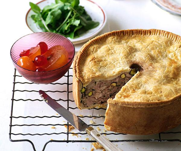 Pork and turkey luncheon pie