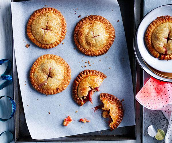 Sugar-crusted rhubarb hand pies