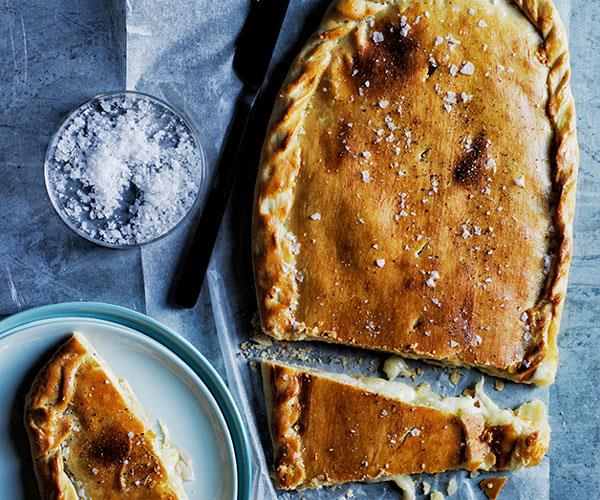 """**[Triple-cheese pie](https://www.gourmettraveller.com.au/recipes/browse-all/cheese-pie-12537