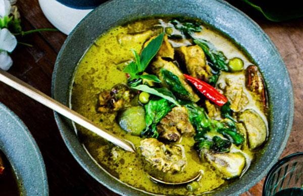 Green curry of chicken