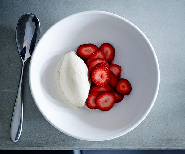 "**[Thi Le's kampot pepper ice-cream with strawberries](https://www.gourmettraveller.com.au/recipes/chefs-recipes/kampot-pepper-ice-cream-with-strawberries-8465|target=""_blank"")**"