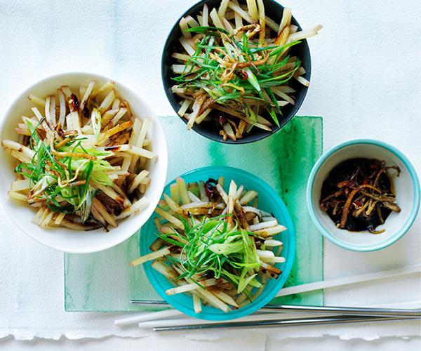 Chinese-style potato salad with ginger, chilli and spring onion