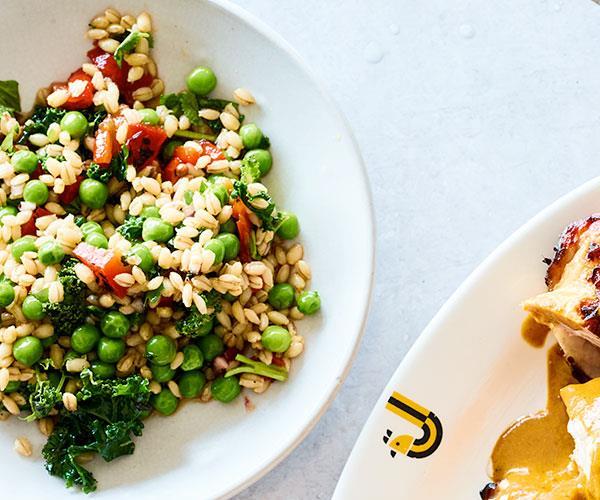 "**[JoyBird's pea and barley salad](https://www.gourmettraveller.com.au/recipes/chefs-recipes/pea-barley-salad-17959|target=""_blank""|rel=""nofollow"")**"