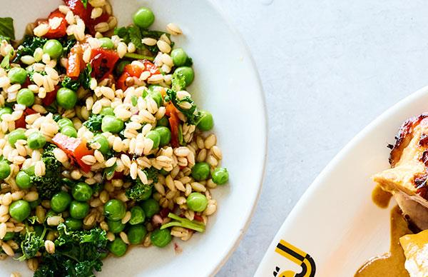 JoyBird's pea and barley salad