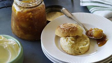Easy scones with jam and cream